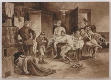 """Max VON POOSCH - Drawing-Watercolor - """"Dispatch"""" by Max von Poosch, ca 1920"""