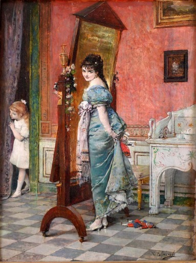 Vicente PALMAROLI Y GONZALEZ - Gemälde - Playing hide and seek