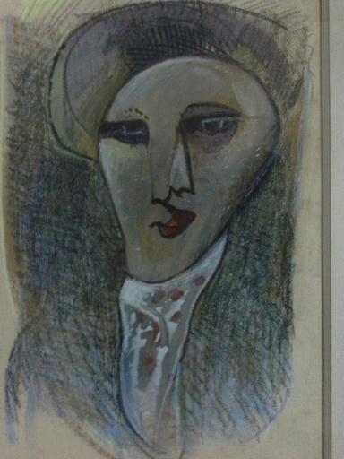 Francisco BORES - Drawing-Watercolor - PORTRAIT CUBISTE