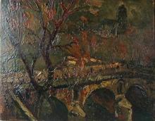 Pierre Jean DUMONT - Peinture - le pont Marie à Paris