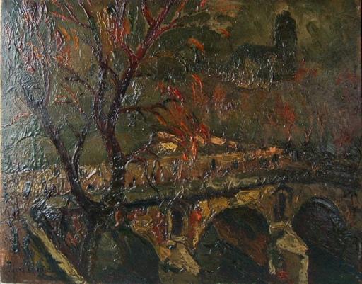 Pierre Jean DUMONT - Gemälde - le pont Marie à Paris