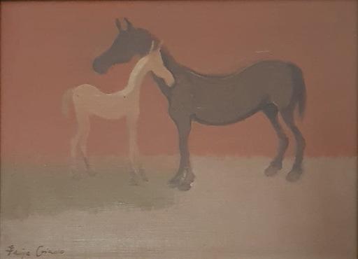 Felipe CRIADO - Pintura - Caballo y Potro