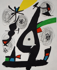 Joan MIRO - Print-Multiple - Composition I, from: The Acid Melody | La Mélodie Acide