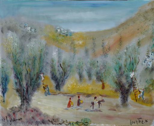 Albert GOLDMAN - Painting - Olive Harvest