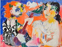 Bernard LORJOU - Painting - les Hippies