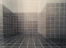 Hans Peter REUTER - Dibujo Acuarela - OhneTitel (Spiegelraum)