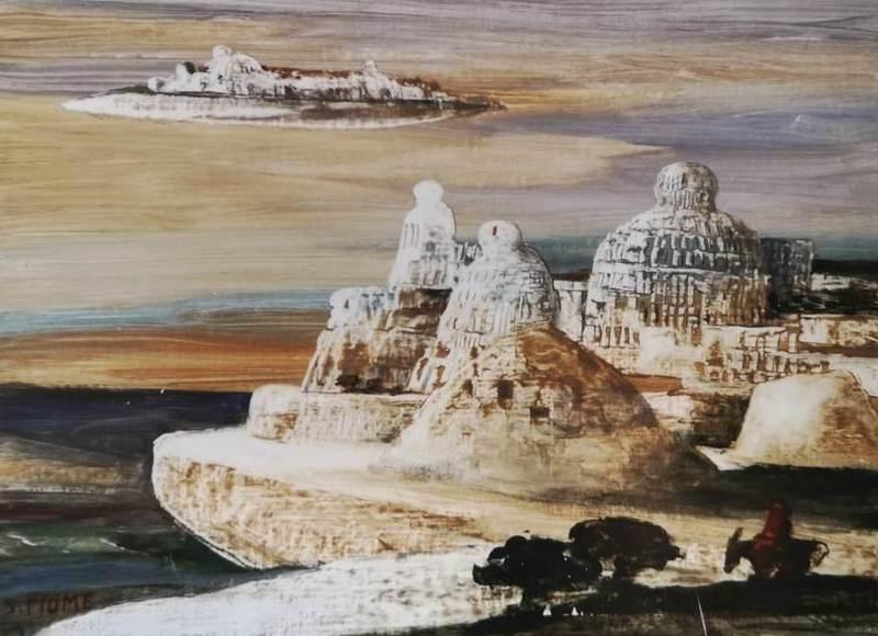 Salvatore FIUME - 绘画 - Isole di pietra