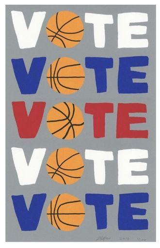 Jonas WOOD - Estampe-Multiple - Vote