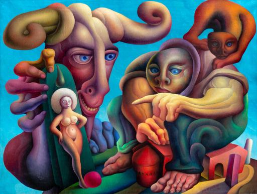 Walter MAC MAZZIERI - Pintura - Ricordo un viso per dipingere tulipani