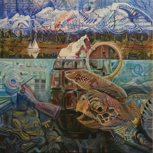 Eric HUBBES - Painting - Zeitbombe Nr 1