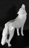 Richard ORLINSKI - Sculpture-Volume - Loup hurlant, blanc