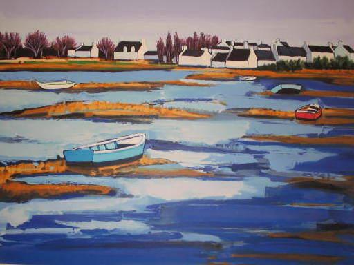 Jean-Claude QUILICI - 版画 - Fin d'aprés-midi sur l'étang,1999.