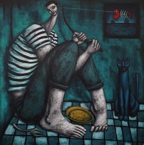 Nicolas MONJO - Painting - Les restes