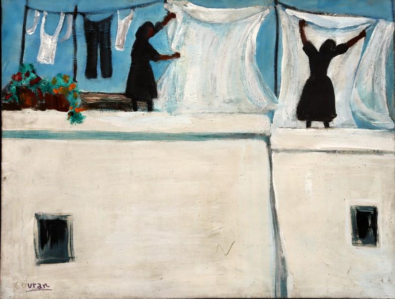 """Victorina DURAN CEBRIAN - Pintura - Scénographie pour """"LA CASA DE BERNADA ALBA"""""""