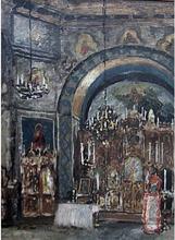 Boris Mikhailovich KUSTODIEV (1878-1927) - A Church Interior