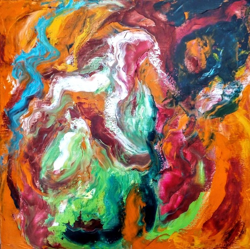 Theodora BERNARDINI - Painting - Chaos Mystérieux