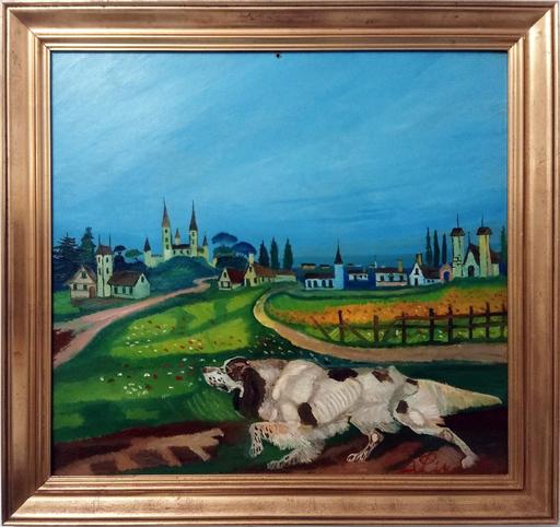 Antonio LIGABUE - Painting - Setter