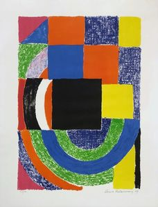 Sonia DELAUNAY-TERK - Print-Multiple - Carreau noir