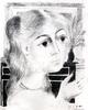 Paul DELVAUX - Print-Multiple - Jeune fille au collier de perles 1975