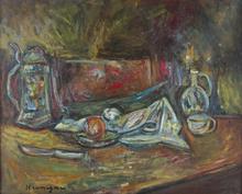 Pinchus KREMEGNE - Peinture - The Light Supper