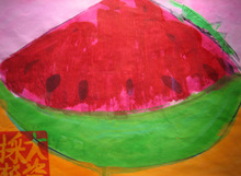 TING Walasse - Print-Multiple - Watermelon and Grasshopper, +