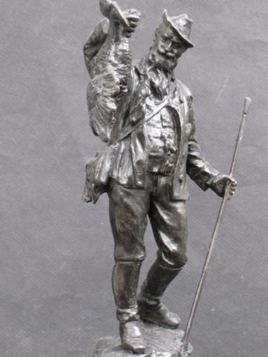Franz BERGMANN - Sculpture-Volume - Le Chasseur au Tétra