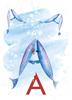 Rocío DEL MORAL - Estampe-Multiple - Animal Alphabet - The letter A    (Cat N° 6174)