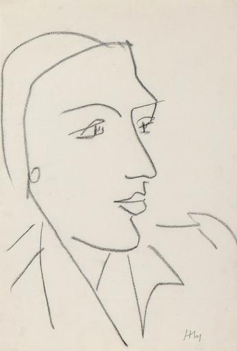 亨利·马蒂斯 - 水彩作品 - Tête de Profil