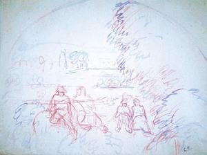 Camille PISSARRO, Figures in a landscape