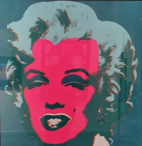 """Andy WARHOL - Print-Multiple - Marilin """"this is not by me"""""""