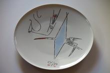 "Wifredo LAM - Cerámica - Porcelana di Albisola - 12"" plate"