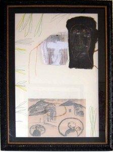 Mimmo PALADINO - Painting - Senza Titolo 1990