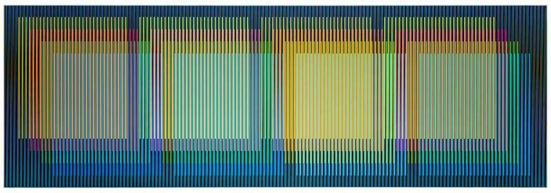 Carlos CRUZ-DIEZ - Painting - Color aditivo yuruani