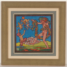 "Alfred WAAGNER - Disegno Acquarello -  ""Mythological scene"", watercolor, 1910s"