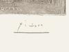 Pablo PICASSO - Grabado - Deux profiles face a face - Two Profiles Face to Face