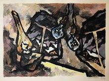 Oskar RABIN - Print-Multiple - Trois Ampoules, Moscou