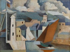 André LHOTE - Peinture - Port méditerranéen