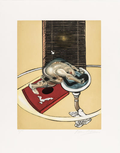 Francis BACON - Stampa-Multiplo - L'homme au lavabo