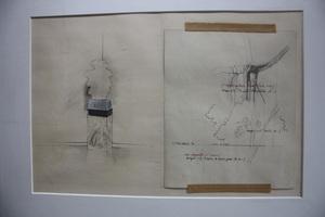 Gérard TITUS-CARMEL - Zeichnung Aquarell - Eau stagnante 2ème nuance