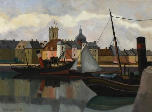 Paul Émile PISSARRO - 绘画 - Le Port de Dieppe