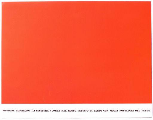 Emilio ISGRO - Print-Multiple - Mihail Gorbaciov corre nel rosso