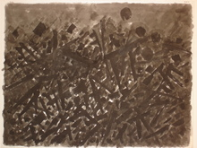 Jacques GERMAIN - Drawing-Watercolor - Composition JG 10 84