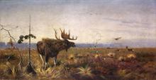Richard Bernhard L. FRIESE - Painting - Bull Moose