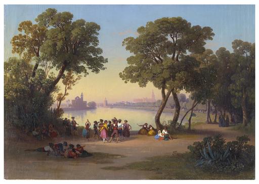 Johann Jakob FREY - Painting - Sevilla.