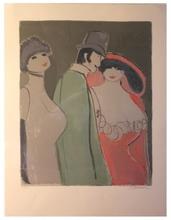David SCHNEUER - Print-Multiple - Herr mit zwei Damen