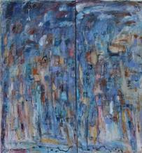 Christine Ange LEFEVRE - Peinture - Diptyque 1 aux carrés