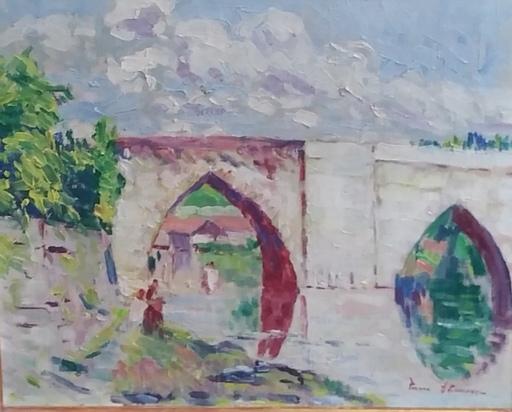 Pierre THOMAS - Painting - Le pont Saint Martial à Limoges