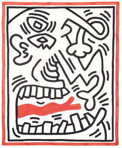 Keith HARING, Picasso's (Red) Tongue