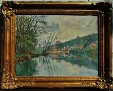 Henri PAILLER - Painting - Moulin de Chasseigne sur le Clain à Poitiers