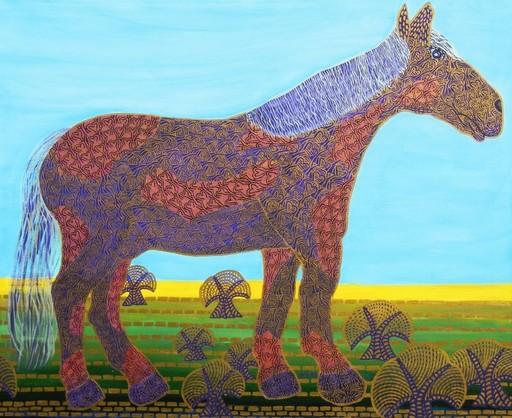 Annemarie HOFFMANN - Painting - BaumPferd    (Cat N° 5833 - Galerie Ludwig Trossaert)
